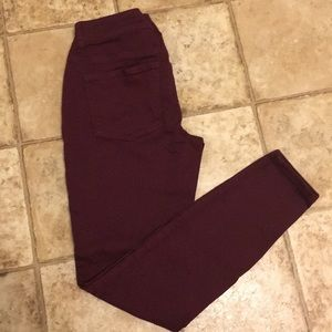 Size Small Burgundy Jeggings